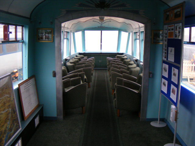 The interior of E1719 at York on the Friday before the opening of Railfest 2012