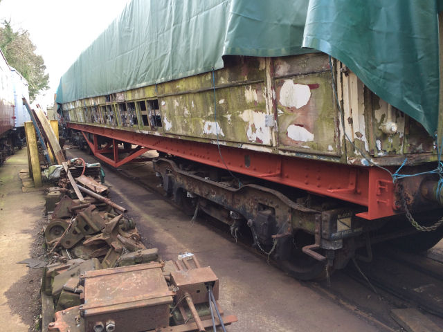 Work is proceeding on TTO 23981, with work concentrating on the cleaning and painting of the chassis as seen here.