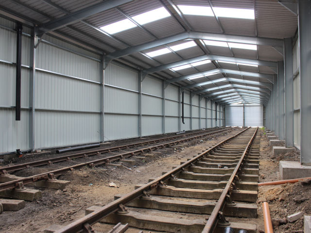 The inside of the shed on Saturday 2nd August 2014 with the firewall in place. There are still some minor jobs to be completed, such as connecting the drainpipes up.