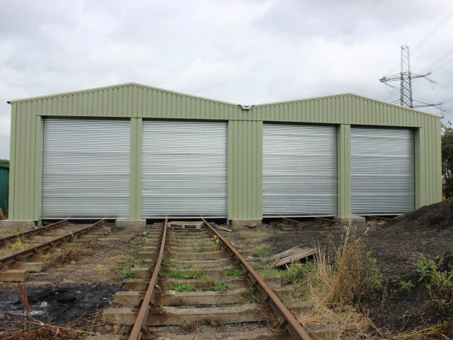 The frontage of the shed on Saturday 2nd August 2014 with the doors in place.