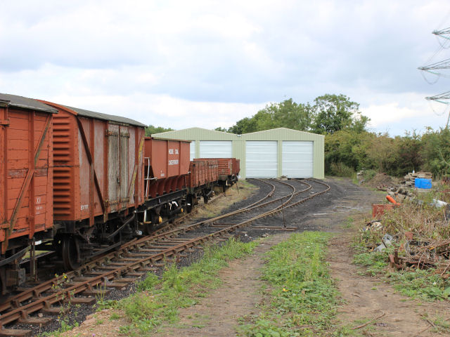 The view of the shed at Swithland now that all four roads are connected to the GCR.