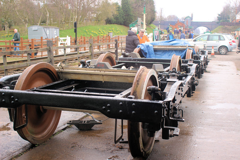 The bogies from LNER TTO, 23981, have now been reassembled following overhaul of the component parts.
