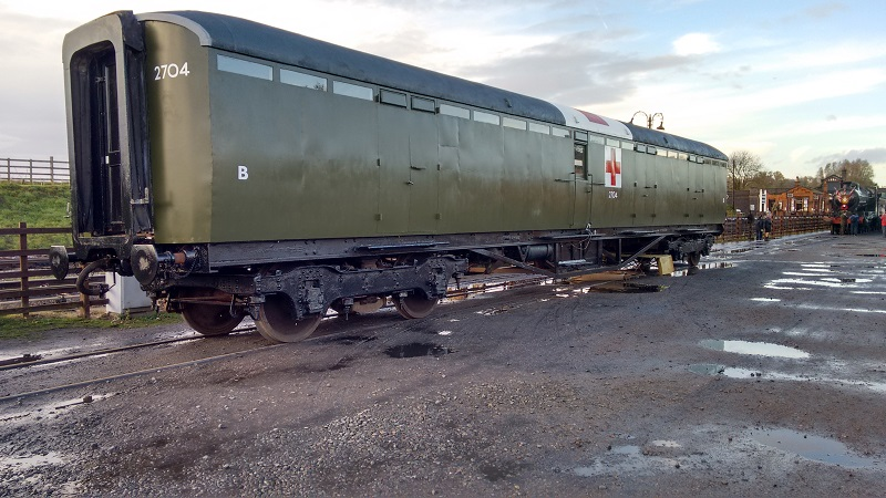 LNER Ambulance coach 2704 on display at the Great Central Railway's Armistice event on11th November 2018